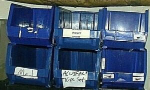 Uline Blue Plastic Stackable Storage Bins Local Pickup Only