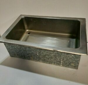 Apw Stainless Drop in Cold Pan Insulated Well Drain Ice Bin Cfw 1d