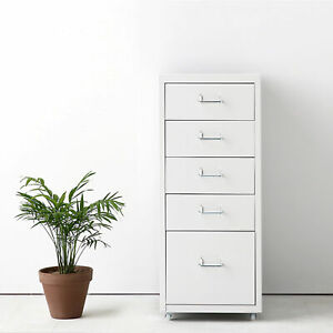 Ikayaa Metal Drawer File Cabinet Detachable Mobile 5 8 Drawers 4 Casters F8y6