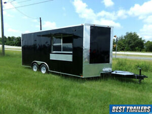 2021 Empire Cargo 8 X 18 Concession Trailer Vending Food Truck Finished Sinks