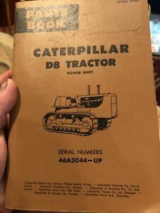 Cat Caterpillar D8 Tractor Bulldozer Parts Book Catalog S n 46a Used Nice Power