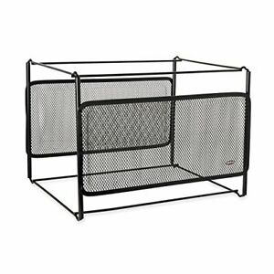 Eldon Mesh Collection Sideload Double Tray With Hanging File Black 22191