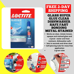 Loctite Glass Super Glue Clear Dishwasher Safe Fast Bonding Metal Stained 233841