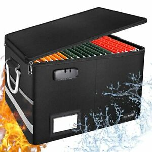 File Box Fireproof Box With Lock Collapsible File Organizer For Hanging Letter l