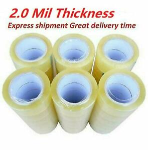 1 6 12 18 24 36 72 Rolls Clear Packing Packaging Carton Sealing Tape 2x110