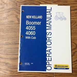 New Holland Boomer 4055 4060 Tractor Operator Manual Maintenance Guide 87477193