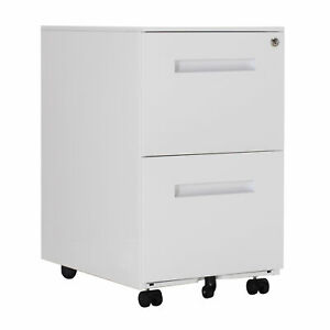2 Drawers Mobile Pedestal File Cabinet Legal Size Lateral File Cabinet W Lock