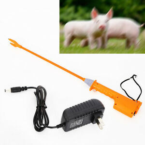 Us Cattle Prod Rechargeable Electric Shock Voltage 10000v 55cm Safety Switch
