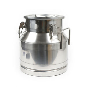 20 L Heavy Duty Milk Bucket Stainless Steel Can Wine Pail Bucket Silicone Seal