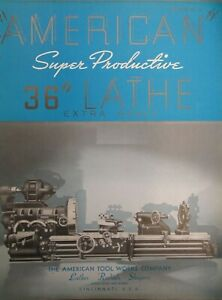 American Tool Super Productive 36 Lathe Radial Shapers Brochure 76