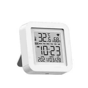 Smart Wifi Digital Thermometer Hygrometer Temperature Humidity Meter Indoor O6z0