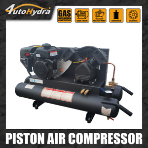 4utohydria Gas Driven Piston Air Compressor 6 5hp One Stage 9 5gal Twin Tank