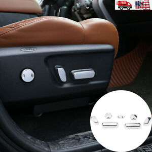 Sliver Chrome Seat Adjustment Button Cover Trim For Toyota Tundra 2014 2020 Us