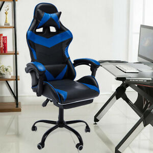 Executive Gaming Chair Massage Reclining Swivel Office Chair Desk Computer Hot