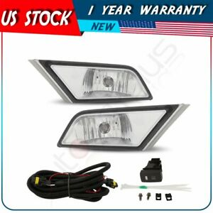 For 2011 2013 Honda Odyssey Clear Front Bumper Fog Lights Lamps W Switch