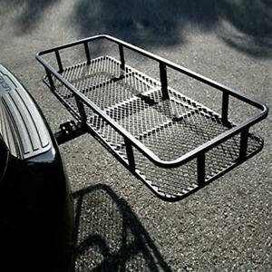 Foldable Hitch Cargo Carrier 60 X 20 X 6 Basket Trailer 500 Lbs 2 Receiver