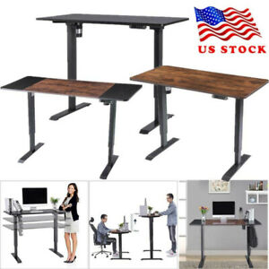 Electric Standing Desk Details About Home Office Height Adjustable Lifting Tab