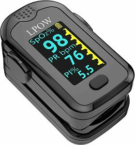 Lpow Pulse Oximeter Fingertip Blood Oxygen Saturation Monitor With Oled Screen