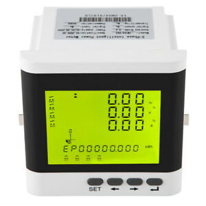 Digital Ammeter Multi function Three phase Programmable Electric Power Meter