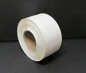 1000 White Self adhesive Price Labels 1 Stickers Tags Retail Supplies Roll