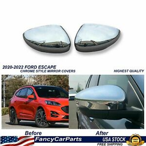 Chrome Mirror Covers Ford Escape 2020 2021 2022 High Quality