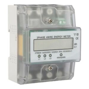 Electric Power Meter 230 400v 5 100a Three phase 4p Kwh Meter Digital Power