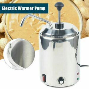 2 5l Stainless Steel Electric Nacho Cheese Sauce Warmer Pump Dispenser 650w 110v