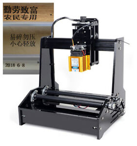 Portable Mini Cylindrical Cnc Engraver Desktop Small Lasercarving Machine Device