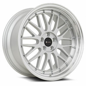 Vors Vr8 19x8 5 19x9 5 5x112 35 35 Silver Wheels 4 73 1 19 Inch Staggered Rims