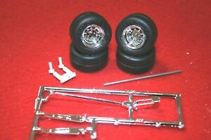 125 Parts 4 Super Wide Gyear Racing Tires With Wide Chrome Wheelsamp Jack
