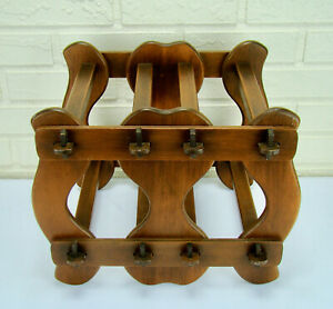 Antique Arts Crafts Mission Wine Rack Canterbury Music Stand