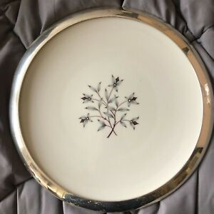 Lenox Princess Dinner Plate With Wallace Sterling Silver Rim