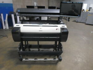Canon Ipf780 36 Wide Format Color Printer W Scanner Ct
