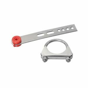 Exhaust Hanger Brushed Stainless Steel 9 In Long 3 0 In Polished Clamp Each