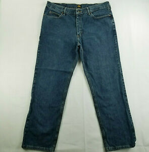 Lee 40x32 Actual 40x31 Relaxed Fit Straight Leg Medium Blue Wash Men#x27;s Jeans $17.99