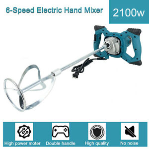 Electric Handheld Concrete Mixer Drill 2100w Portable Cement Mixing Stirrer 110v