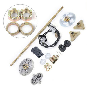 Rear Axle Assembly Complete kits For Go Kart T8F 740mm Master Cylinder Caliper $96.00