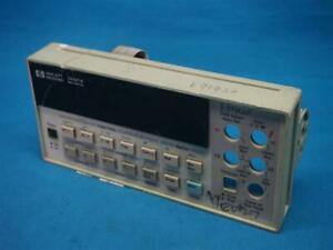 Hp 34401a Multimeter Front Panel Assy W Breakage Scratches