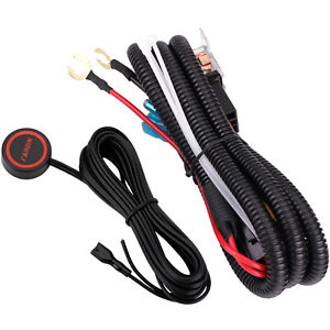 12v Car Horn Wiring Harness Relay Button Switch Kit For Car Truck Train Boat Suv