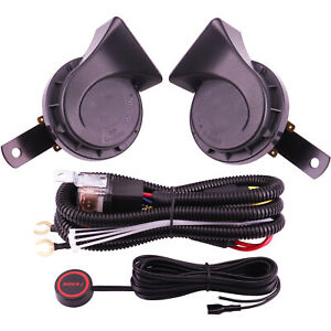 12v Car Horn Loud Train Horn For Truck Electric Air Horn Kit With Harness Button