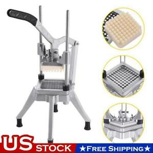 1 4 Blades Stainless Steel French Fry Cutter Potato Vegetable Slicer Chopper