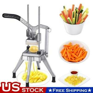 3 8 Blades Stainless Steel French Fry Cutter Potato Vegetable Slicer Chopper