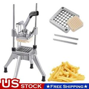 1 2 Blades Stainless Steel French Fry Cutter Potato Vegetable Slicer Chopper