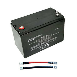 Windy Nation 12v 100 Ah Deep Cycle Solar Off Grid Battery And Interlocking Cable