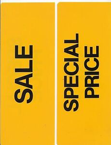 2 Sided Sale Special Price 4 1 2 X 11 Retail Business Yellow Black
