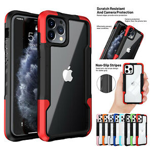 For iPhone 11 12 Pro Max XS XR 8 7 SE2 Hybrid Shockproof Bumper Clear Case Cover $6.91