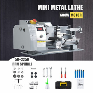 600w 8x14 Inch Auto Mini Metal Lathe W Brushed Motor For Metalwork More 2500rpm