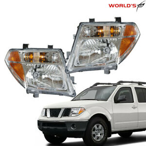 Clear Lens Replacement Headlight For Nissan Pathfinder Frontier 2005 07 08 Pair