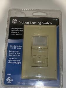 General Electric Ge 57884 Motion Sensing Switch Single Pole Light Switch New