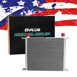 30 Row An 10 Fit For Universal Aluminum Engine Transmission Oil Cooler Silver Us